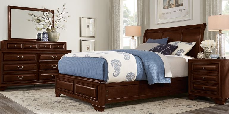 Mill Valley II Cherry 7 Pc Queen Sleigh Bedroom