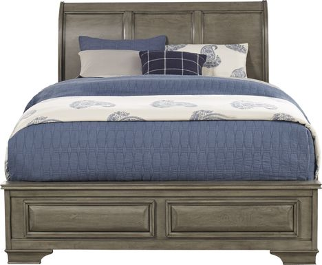 Mill Valley II Gray 3 Pc King Sleigh Bed