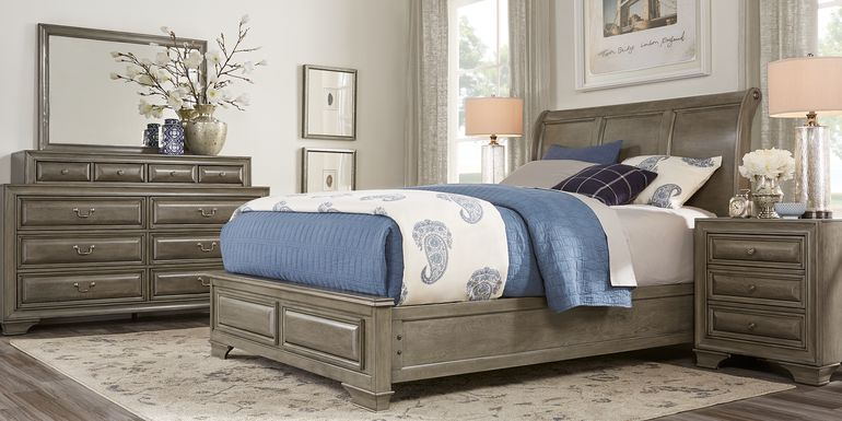 Mill Valley II Gray 5 Pc King Sleigh Bedroom