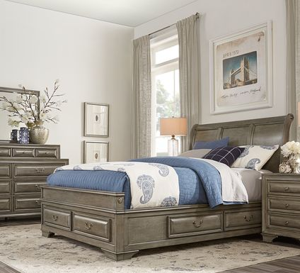 Mill Valley II Gray 5 Pc Queen Sleigh Bedroom with Storage