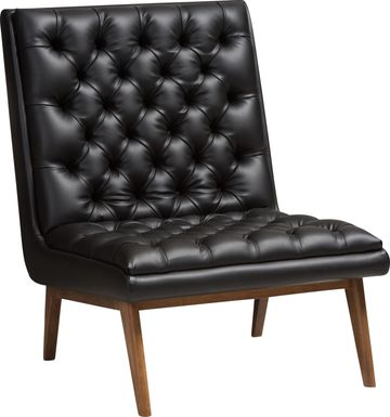 Minneha Black Accent Chair