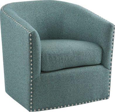 Minturn Teal Accent Swivel Chair