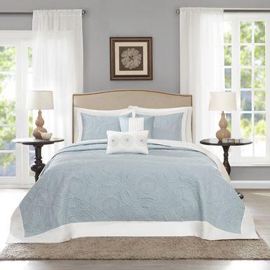 Miral Blue 5 Pc King Bed Sheet Set
