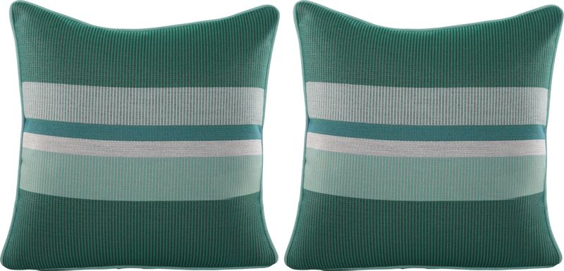 Mirra Blue Indoor/Outdoor Accent Pillow, Set of Two
