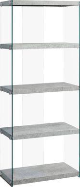 Mitchwin Gray Bookcase