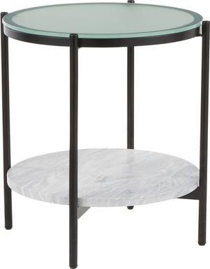 Mitford White End Table