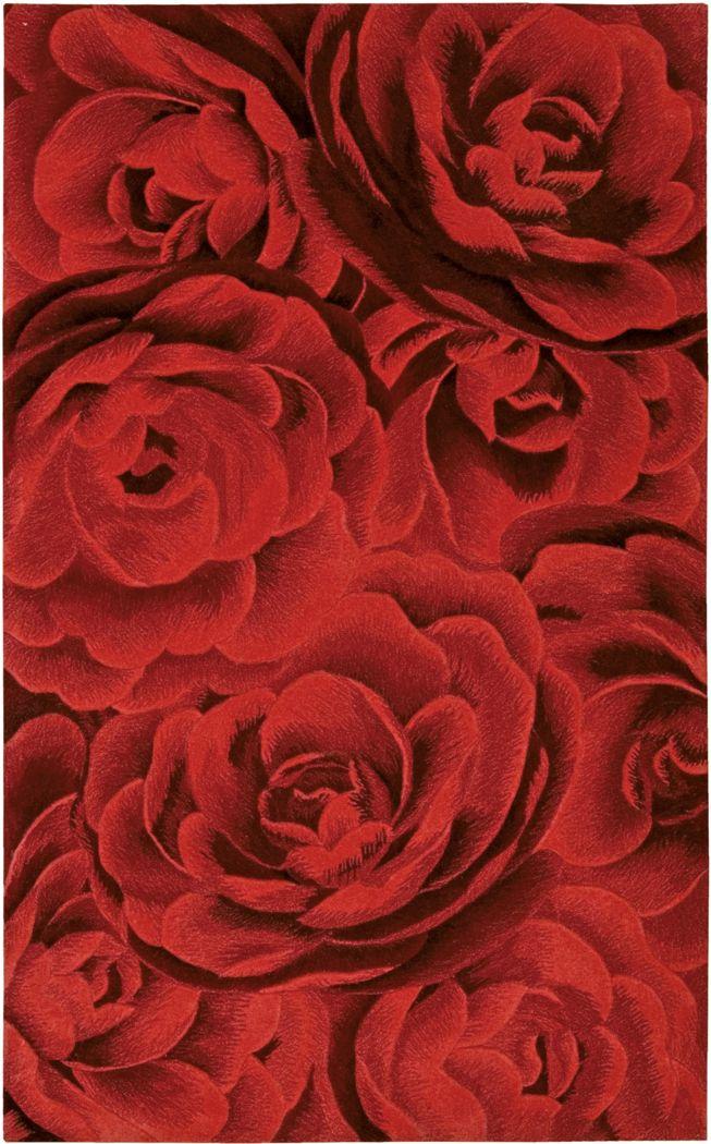 Moda Rose Red 5'6 x 7'5 Rug