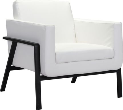 Monasty White Accent Chair