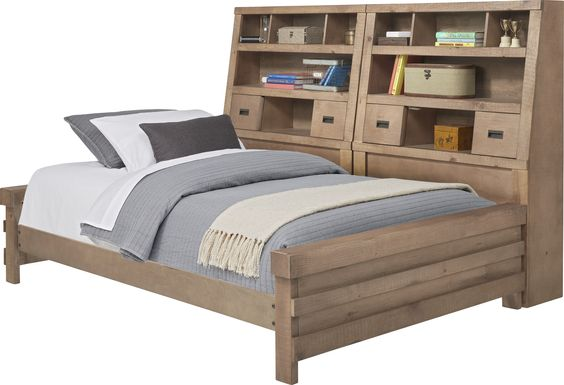 Montana Driftwood 2.0 5 Pc Full Bookcase Daybed