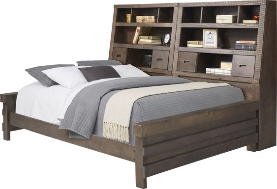Kids Montana 2.0 Espresso 5 Pc Full Bookcase Daybed