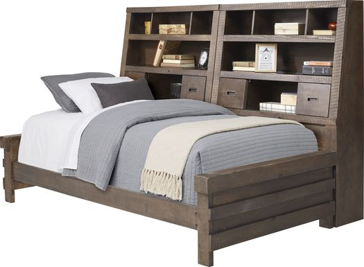 Kids Montana 2.0 Espresso 5 Pc Twin Bookcase Daybed