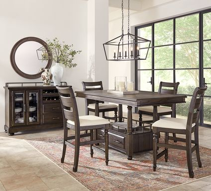 Montana Ridge Brown 5 Pc Counter Height Dining Room