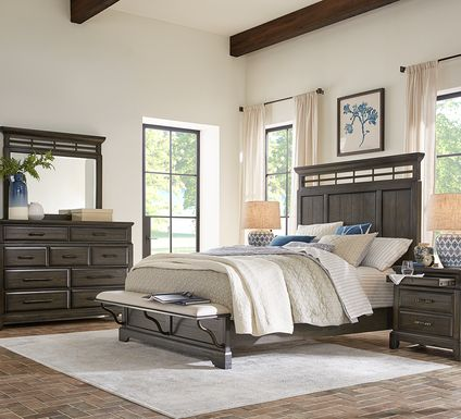 Montana Ridge Brown 5 Pc King Panel Bedroom