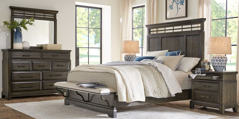 Montana Ridge Brown 7 Pc Queen Panel Bedroom