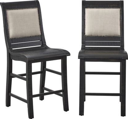 Montcalm Black Counter Height Stool, Set of 2