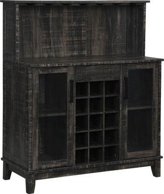 Moorman Charcoal Bar Cabinet