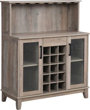 Moorman Gray Bar Cabinet