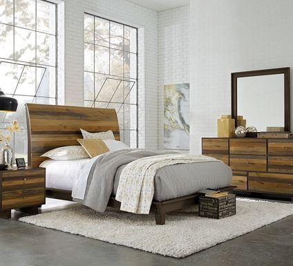 Moss Creek Brown 7 Pc King Sleigh Bedroom