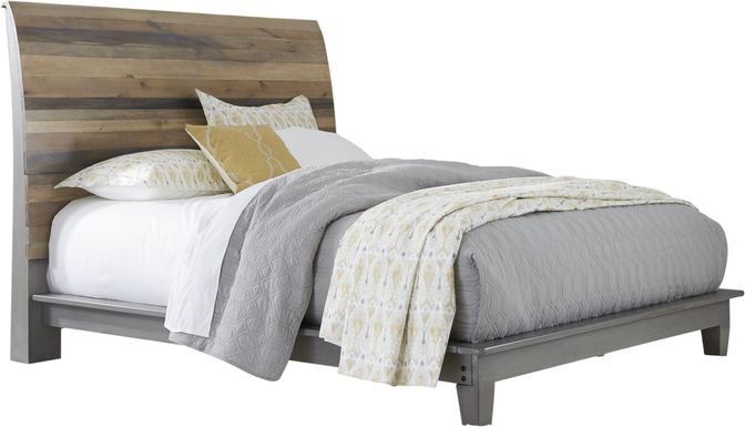 Moss Creek Gray 3 Pc King Sleigh Bed
