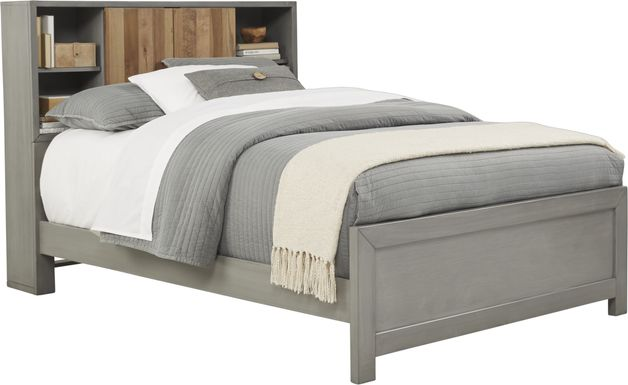 Kids Moss Creek Jr. Gray 3 Pc Full Bookcase Bed