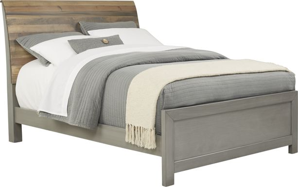 Kids Moss Creek Jr. Gray 3 Pc Full Sleigh Bed