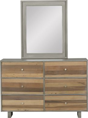Kids Moss Creek Jr. Gray Dresser & Mirror Set
