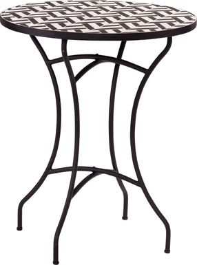 Motsie Black Outdoor End Table