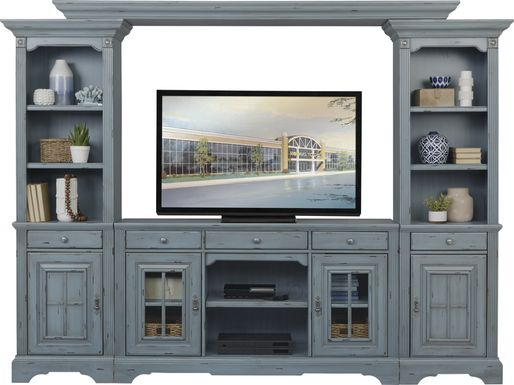 Mountain Bluff II Blue 4 Pc Wall Unit