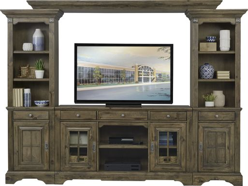 Mountain Bluff II Hickory 4 Pc Wall Unit
