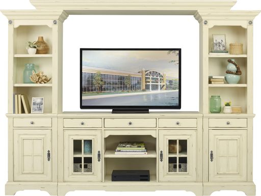 Mountain Bluff II White 4 Pc Wall Unit