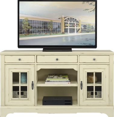 Mountain Bluff II White 64 in. Console
