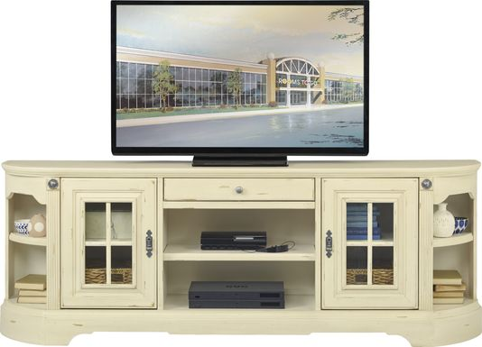 Mountain Bluff II White 88 in. Console
