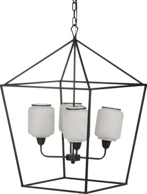 Mountain Holly Black Chandelier