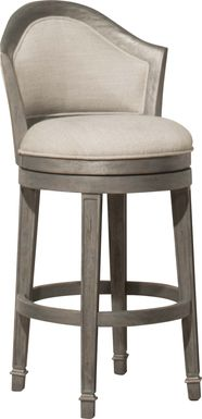 Mullein Gray Swivel Barstool