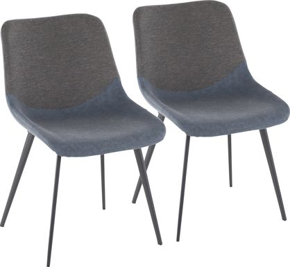 Myerston Blue Dining Chair, Set of 2