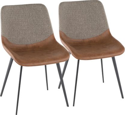 Myerston Brown Dining Chair, Set of 2