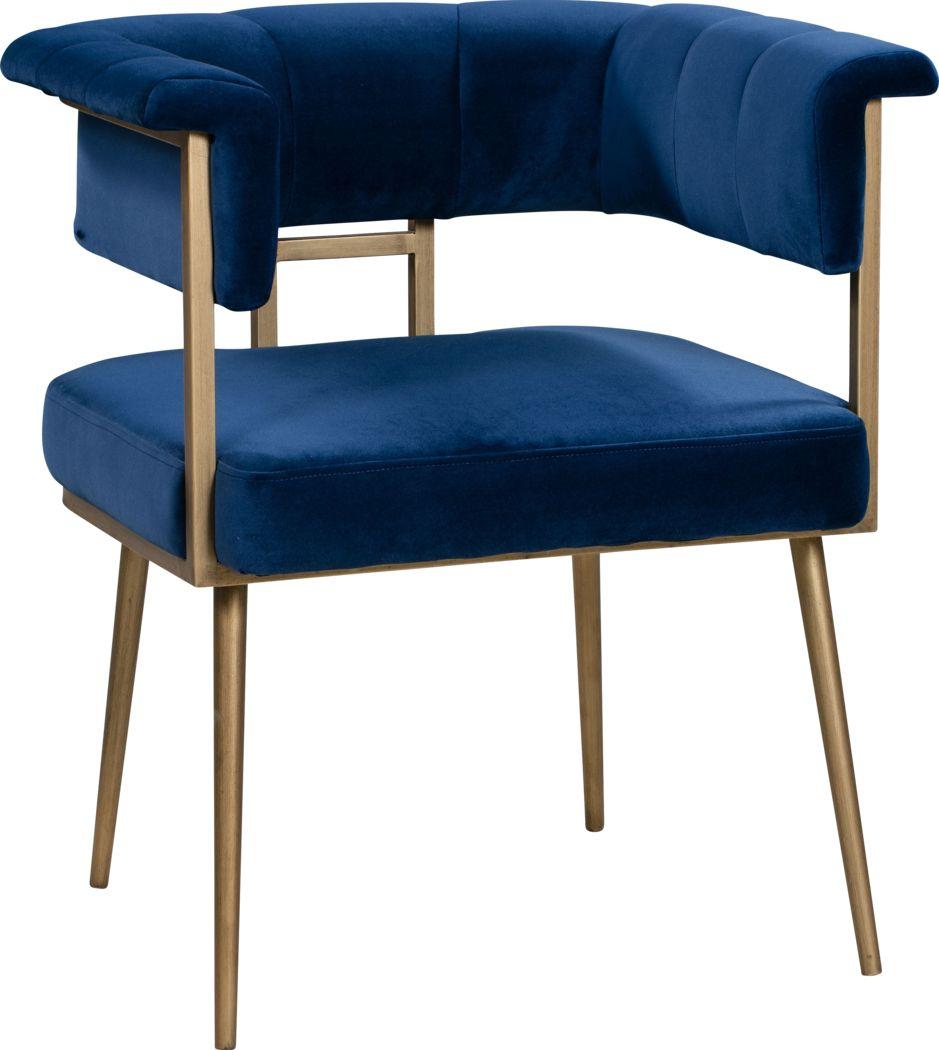 Myriah Navy Arm Chair