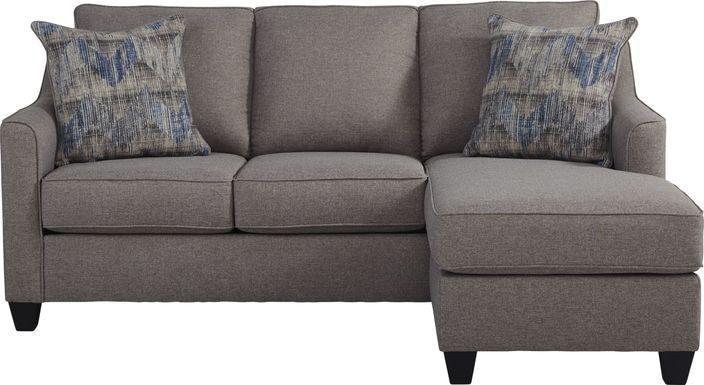 Nadler Gray Sofa Chaise