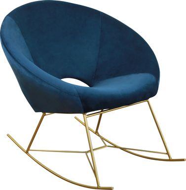Nagel Navy Rocker Chair