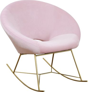 Nagel Pink Rocker Chair