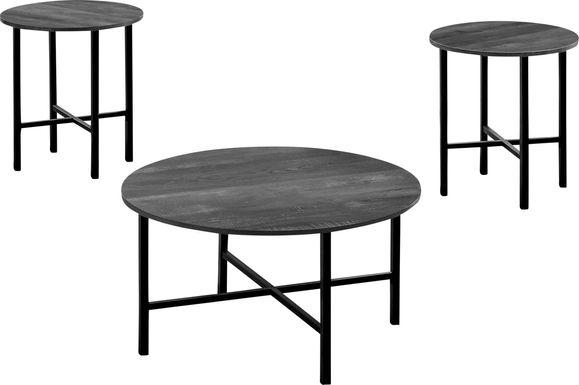Nakoma Black Cocktail Table, Set of 3