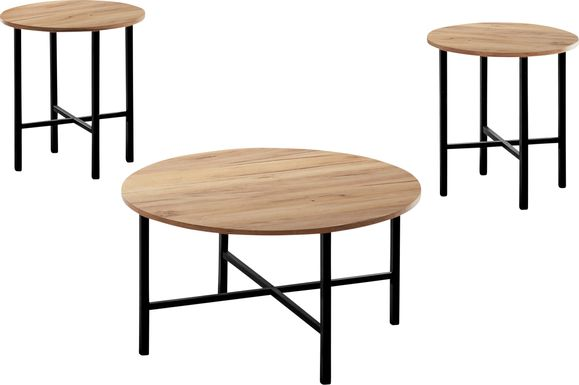 Nakoma Tan Cocktail Table, Set of 3