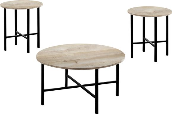 Nakoma Taupe Cocktail Table, Set of 3