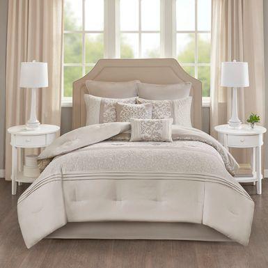 Nalianna Beige 8 Pc King Comforter Set