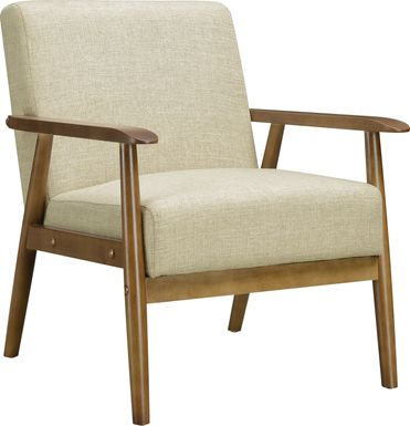 Nandas Beige Accent Chair