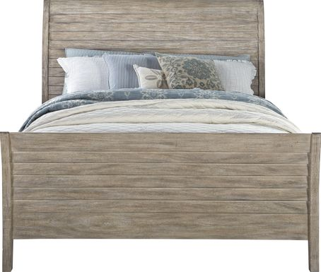 Nantucket Breeze Bisque 3 Pc King Sleigh Bed