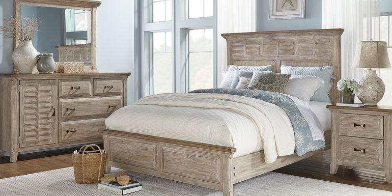 Nantucket Breeze Bisque 5 Pc King Panel Bedroom