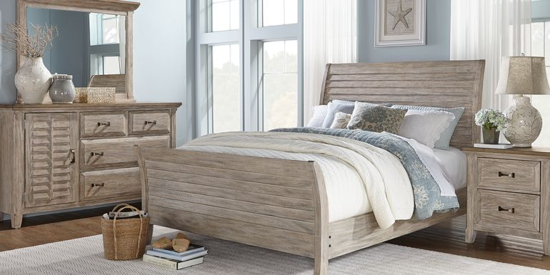 Nantucket Breeze Bisque 5 Pc King Sleigh Bedroom