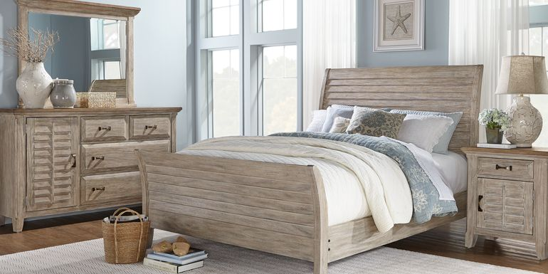 Nantucket Breeze Bisque 7 Pc King Sleigh Bedroom