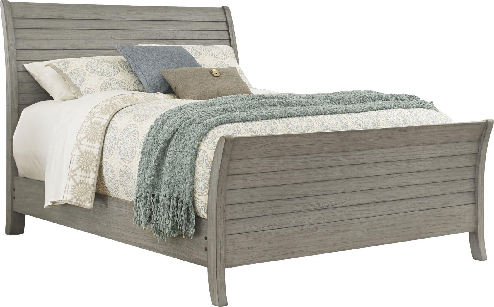 Nantucket Breeze Gray 3 Pc King Sleigh Bed